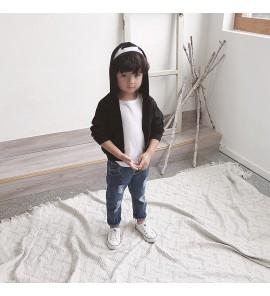 Kids Children Boy Korean Style Cola Zipper Cool Long Sleeve Jacket Coat