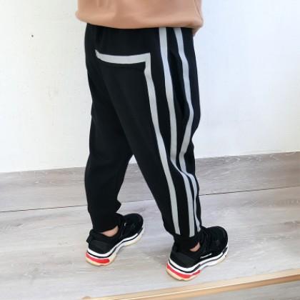 Kids Children Boy Black Casual Stripes Fashion Harem Long Pants Trousers