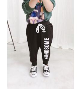 Kids Children Boy Korean Black Elastic Dancing Casual Long Pants Trousers