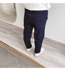 Kids Children Boy Casual Outing Plan Color Pockets Long Pants Trousers