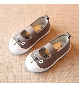 Kids Children Girl Cute Korean Canvas Animal Flats Casual Outing Shoes