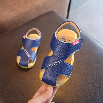 Kids Children Boy Korean Sandals Anti-Kick Baby Non-Slip Soft Bottom Beach Shoes