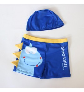 Baby Cute Boy Animal Dinosaur Cap and Shorts Creative Swimming Swimsuit