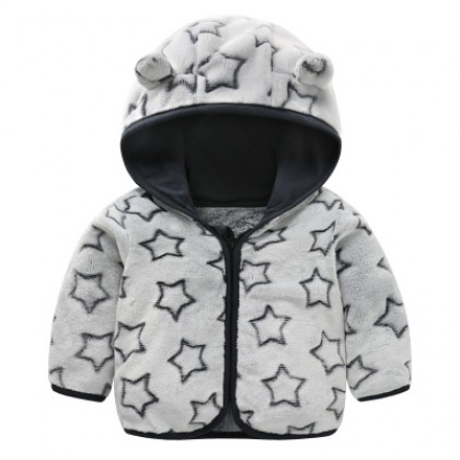 Baby Cute Girl Boy Travel Thick Keep Warm Stars Hoodie Winter Wear