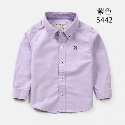 Kids Children Boy Formal Long Sleeve Button Up Collar Shirt