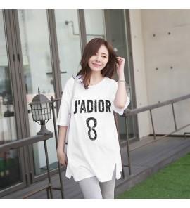 Women Korean Cotton Loose Large Size Long Pregnant T-shirt Maternity Tops