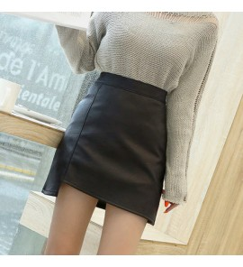 Women Stomach Lift Fashion Mother Leather Autumn Winter Maternity Skirts