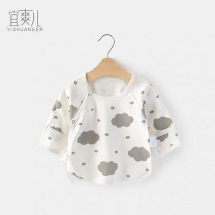 Baby 0-3 months Underwear Top Newborn Half Back Monk Clothes Tops