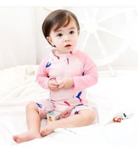 Baby Infant Children's Long-Sleeved Girls Sunscreen Swimsuit
