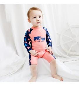 Baby Infant Children's Swimwear Boys Girls Quick-Drying Sunscreen Swimsuit