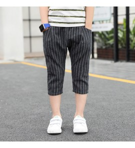Kids Children Boy Korean Gray Summer Casual Cotton Pants