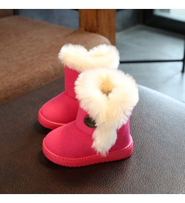 Kids Children Girl Snow Cotton Shoes Autumn Winter Boots