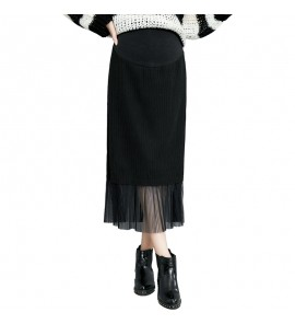 Women Casual Wear Winter Long Stomach Lift Maternity Skirts