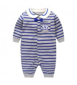 Baby Newborn Men's Doll Collar Romper Spring Clothes Dress Set
