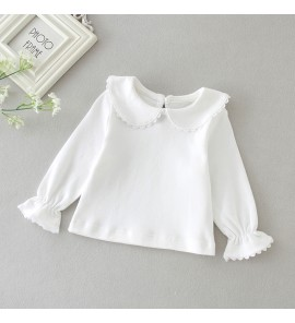Baby Newborn Female 0-1 Years Old Bottoming Clothes Autumn Shirt Tops