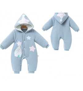 Baby Thick Romper Newborn Warm Clothes Outside Cotton Winter Wear