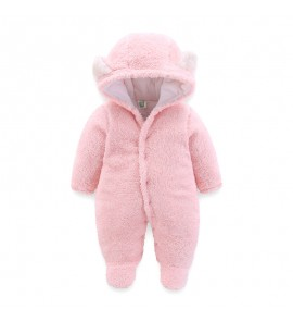 Baby Newborn Jumpsuit with Feet Clothes Cotton Padded Winter Wear