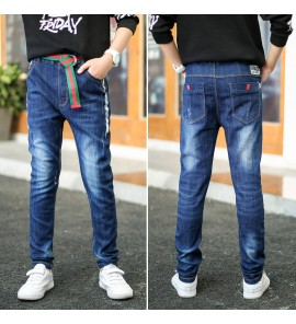 Kids Children Boy Jeans Spring and Autumn Slim Big Pants