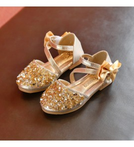 Kids Children Girl Sandals Summer Sequins Dance Shoes