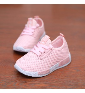 Kids Children Boy Casual Leather Panel Rubber Waterproof Running Shoes