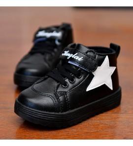Kids Children Boy High Sport Warm Cotton Leather Snow Boots Shoes