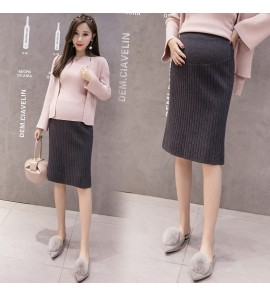 Women Long Stomach Lift Tide Pregnancy Knit Bag Hip Maternity Skirts
