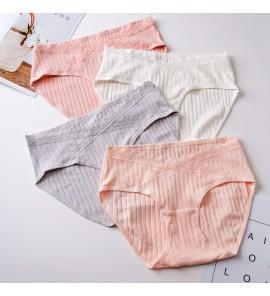 Women Cotton Low Waist Pregnancy Antibacterial Breathable Pants Maternity Underwear