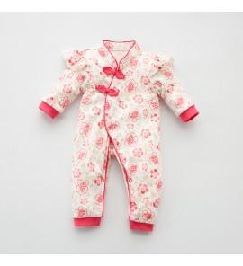 Baby Newborn Chinese New Year Cheongsam Clothes Pig Winter Dress Set