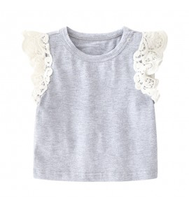 Baby Summer Dress Casual Lace Short-Sleeved Thin T-shirt Tops