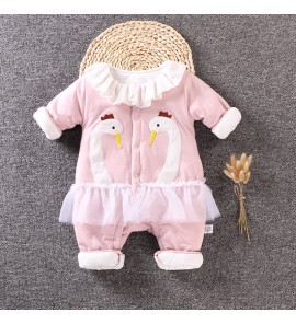 Baby Warm Newborn Out Clothes Cotton Thin Jumpsuit Winter Wear