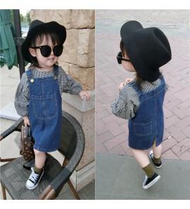 Kids Children Girl Korean Spring Strap Dress Bottoms