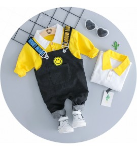 Kids Children Boy Korean Jumper Two Piece Long-sleeve Pants Set