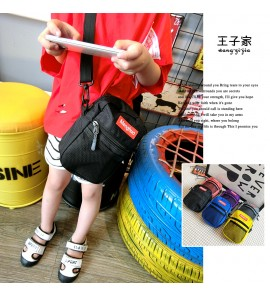 Kids Children Boy Korean Slanting Handsome Small Backpack Bag