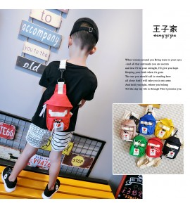Kids Children Boy Fashion Slanting Korean Parent-Child Small Bag