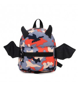 Kids Children Boy Camouflage Cute Mini School Backpack Anti-Lost Bag