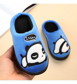 Kids Children Boy Cute Bear Cotton Warm Non-Slip Slippers Shoes