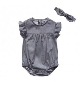 Baby Newborn Siamese Cotton Clothes Summer Short Sleeve Dress Set