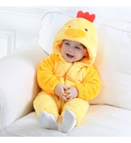 Baby Chicken Clothes Thick Warm Romper Pajamas Foot Winter Wear