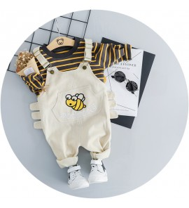 Kids Children Boy Infant Jumper Two Piece Long-sleeve Pants Set