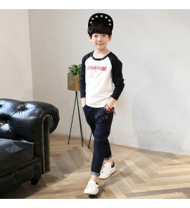 Kids Children Boy Long-Sleeved T-shirt Sweater Winter ClothesTops