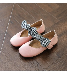 Kids Children Girl Princess Bow Flat Peas Ribbon Casual Shoes