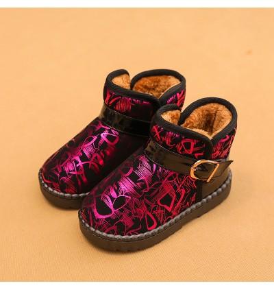 Kids Children Boy Warm Winter Snow Non-Slip Short Boots Shoes