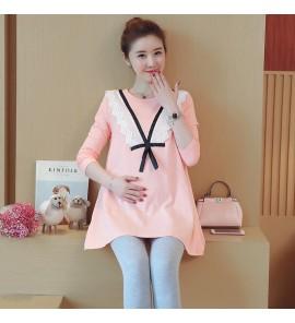 Women Jacket Stomach Lift Pants two-Piece Suit Maternity Tops