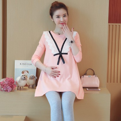Women Jacket Stomach Lift Pants two-Piece Suit Maternity Tops