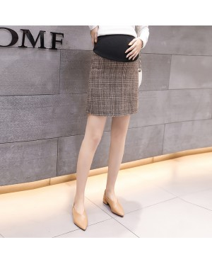 Women Fashion Hip Long Outside Stomach Lift Maternity Skirts