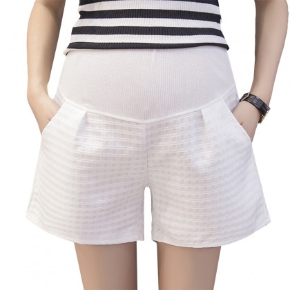 Women Korean Loose Wide Leg Pants Leggings Maternity Short