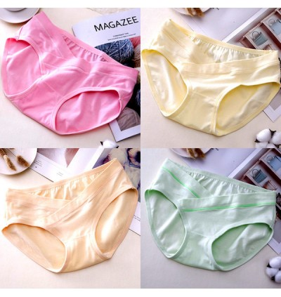 Women Low Waist Cotton Pregnancy Trimester Maternity Underwear
