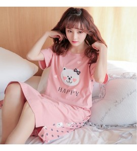 Women Korean Summer Loose Nightdress Maternity Sleepwear