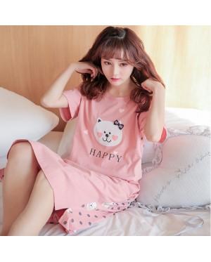 Women Korean Summer Loose Nightdress Maternity Sleepwear