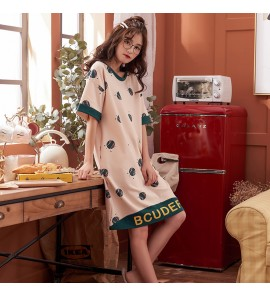 Women Summer Pajama Cotton Short-Sleeved Maternity Sleepwear